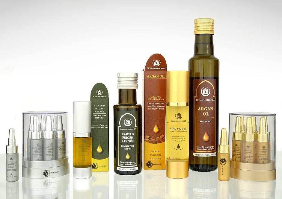 Bionaturehouse Marke Markenprodukte Arganöl Kaktusfeigenkernöl Körperpflege Anti Anging Naturkosmetik